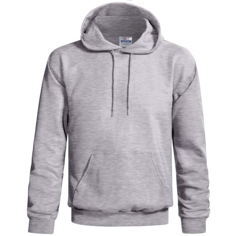 Hanes Cotton-Rich 9 oz Hoodie - No Shrink, Pill Resistant (For Men and Women) in Grey Heather