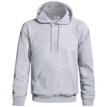 Hanes Cotton-Rich 9 oz Hoodie - No Shrink, Pill Resistant (For Men and Women) in Light Grey Heather - 2nds