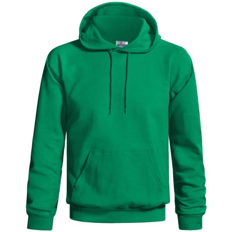 Hanes Cotton-Rich 9 oz Hoodie - No Shrink, Pill Resistant (For Men and Women) in Medium Green