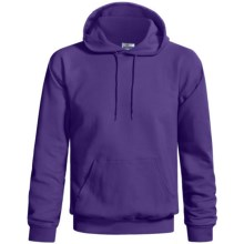 Hanes Cotton-Rich 9 oz Hoodie - No Shrink, Pill Resistant (For Men and Women) in Purple - 2nds