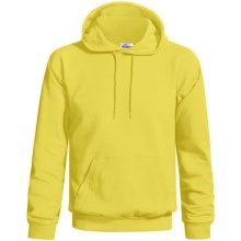 Hanes Cotton-Rich 9 oz Hoodie - No Shrink, Pill Resistant (For Men and Women) in Yellow - 2nds