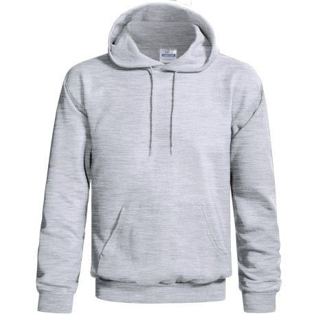 Hanes Cotton-Rich 9 oz Pullover Hoodie - No Shrink, Pill Resistant (For Men and Women) in Light Grey Heather