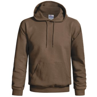 Hanes Cotton-Rich 9 oz Pullover Hoodie Sweatshirt - No Shrink, Pill Resistant (For Men and Women) in Dark Brown