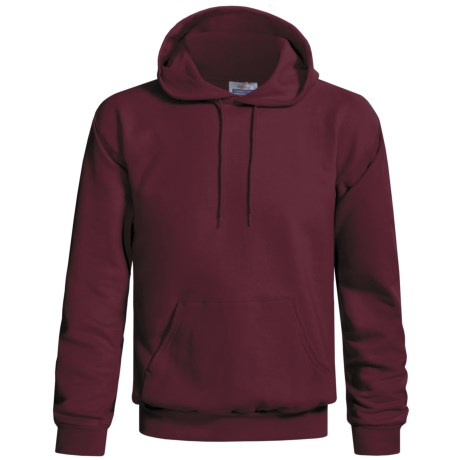 Hanes Cotton-Rich 9 oz Pullover Hoodie Sweatshirt - No Shrink, Pill Resistant (For Men and Women) in Wine