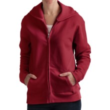 Hanes Cotton-Rich Hoodie Sweatshirt - Full Zip, 7.5 oz. (For Women) in Red - 2nds