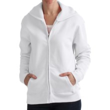 Hanes Cotton-Rich Hoodie Sweatshirt - Full Zip, 7.5 oz. (For Women) in White - 2nds