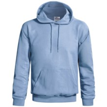 Hanes Cotton-Rich Pullover Hoodie Sweatshirt - No Shrink, Pill Resistant (For Men and Women) in Light Blue - 2nds