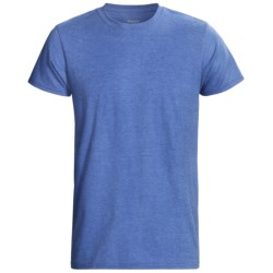 Hanes EcoSoft 50/50 T-Shirt - Modern Fit, Short Sleeve (For Men and Women) in Blue Heather