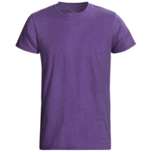 Hanes EcoSoft 50/50 T-Shirt - Modern Fit, Short Sleeve (For Men and Women) in Purple Heather - 2nds