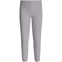 Hanes Elastic Leg Sweatpants (For Little and Big Girls) in Grey Heather - 2nds