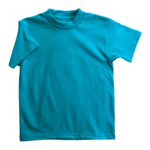 Hanes Heavyweight 50/50 T-Shirt - Short Sleeve (For Youth) in Blue Green - 2nds