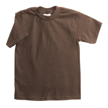 Hanes Heavyweight 50/50 T-Shirt - Short Sleeve (For Youth) in Brown