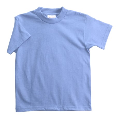 Hanes Heavyweight 50/50 T-Shirt - Short Sleeve (For Youth) in Light Blue