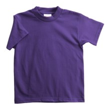 Hanes Heavyweight 50/50 T-Shirt - Short Sleeve (For Youth) in Purple - 2nds