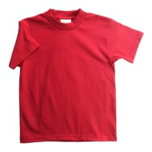 Hanes Heavyweight 50/50 T-Shirt - Short Sleeve (For Youth) in Red - 2nds