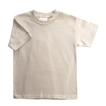 Hanes Heavyweight 50/50 T-Shirt - Short Sleeve (For Youth) in Tan - 2nds