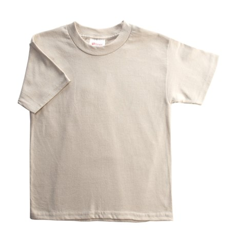 Hanes Heavyweight 50/50 T-Shirt - Short Sleeve (For Youth) in Tan
