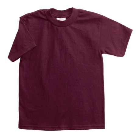 Hanes Heavyweight 50/50 T-Shirt - Short Sleeve (For Youth) in Wine