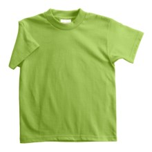 Hanes Heavyweight 50/50 T-Shirt - Short Sleeve (For Youth) in Yellow Green - 2nds