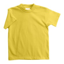 Hanes Heavyweight 50/50 T-Shirt - Short Sleeve (For Youth) in Yellow - 2nds