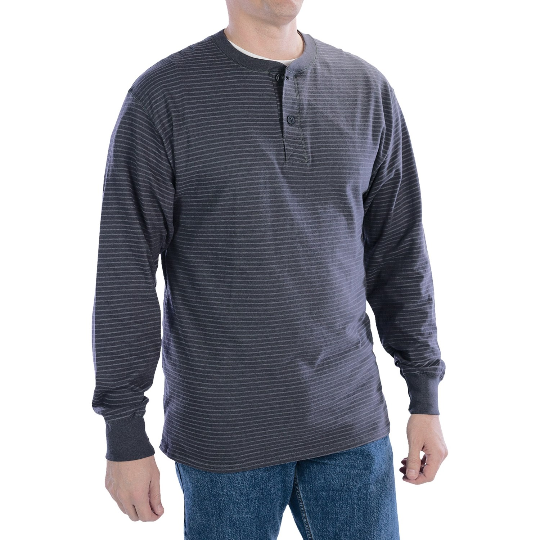 Hanes Henley T Shirt Cotton Long Sleeve For Tall Men