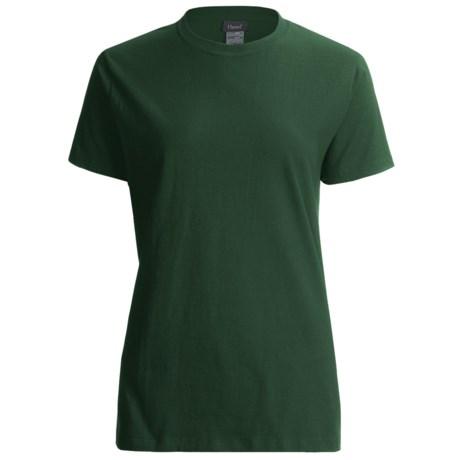 Hanes LightweightT-Shirt - Crew Neck, Short Sleeve (For Women) in Dark Green