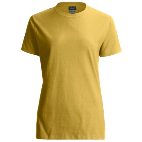 Hanes LightweightT-Shirt - Crew Neck, Short Sleeve (For Women) in Gold