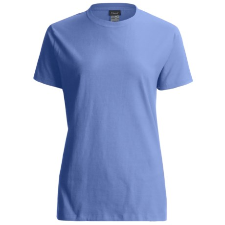 Hanes LightweightT-Shirt - Crew Neck, Short Sleeve (For Women) in Light Blue
