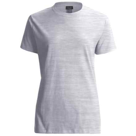 Hanes LightweightT-Shirt - Crew Neck, Short Sleeve (For Women) in Light Grey Heather - 2nds