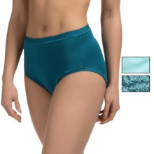 Hanes Modern Brief Panties - Low Rise, 3-Pack (For Women) in Teal Solid/Teal Print/Aqua Solid - Closeouts
