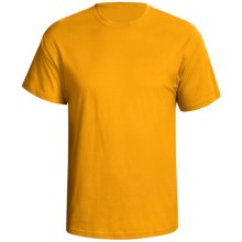 Hanes Nano 4.5 oz Premium Combed Cotton T-Shirt - Short Sleeve (For Men and Women) in Gold - 2nds