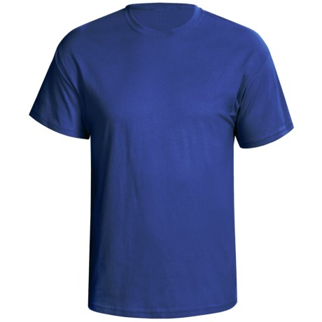 Hanes Nano 4.5 oz Premium Combed Cotton T-Shirt - Short Sleeve (For Men and Women) in Royal