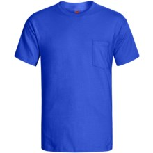 Hanes Open End Pocket T-Shirt - Cotton, Short Sleeve (For Men and Women) in Royal - 2nds