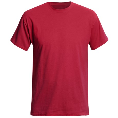 Hanes Originals Cotton Jersey T-Shirt - Short Sleeve (For Men and Women) in Red