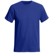 Hanes Originals Cotton Jersey T-Shirt - Short Sleeve (For Men and Women) in Royal - 2nds