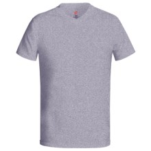 Hanes Originals Cotton Jersey T-Shirt - V-Neck, Short Sleeve (For Men and Women) in Grey Heather - 2nds