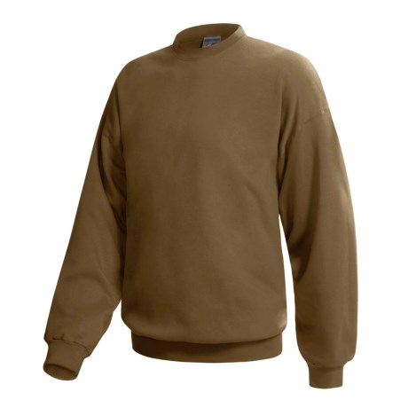 Hanes Pill-Resistant Fleece Sweatshirt - Cotton-Rich 9 oz (For Men and Women) in Dark Brown