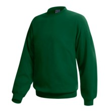 Hanes Pill-Resistant Fleece Sweatshirt - Cotton-Rich 9 oz (For Men and Women) in Dark Green - 2nds