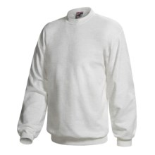 Hanes Pill-Resistant Fleece Sweatshirt - Cotton-Rich 9 oz (For Men and Women) in Light Grey Heather - 2nds