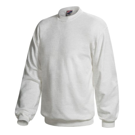 Hanes Pill-Resistant Fleece Sweatshirt - Cotton-Rich 9 oz (For Men and Women) in Light Grey Heather
