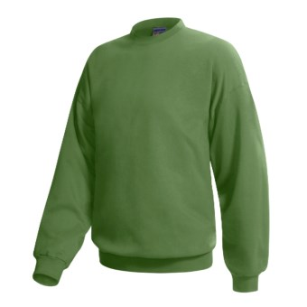 Hanes Pill-Resistant Fleece Sweatshirt - Cotton-Rich 9 oz (For Men and Women) in Olive