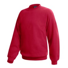 Hanes Pill-Resistant Fleece Sweatshirt - Cotton-Rich 9 oz (For Men and Women) in Red - 2nds