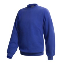 Hanes Pill-Resistant Fleece Sweatshirt - Cotton-Rich 9 oz (For Men and Women) in Royal - 2nds