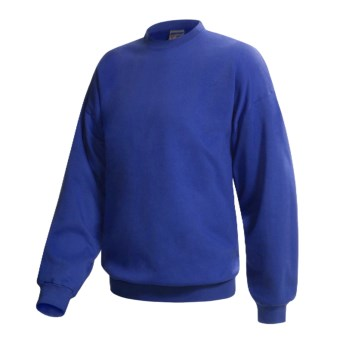 Hanes Pill-Resistant Fleece Sweatshirt - Cotton-Rich 9 oz (For Men and Women) in Royal