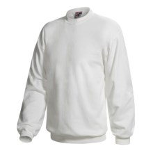 Hanes Pill-Resistant Fleece Sweatshirt - Cotton-Rich 9 oz (For Men and Women) in White - 2nds