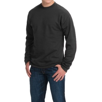 Hanes Premium EcoSmart Sweatshirt - Cotton Fleece (For Men and Women) in Black