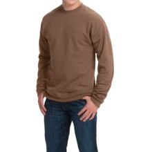 Hanes Premium EcoSmart Sweatshirt - Cotton Fleece (For Men and Women) in Brown Heather - 2nds
