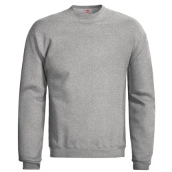 Hanes Premium EcoSmart Sweatshirt - Cotton Fleece (For Men and Women) in Red
