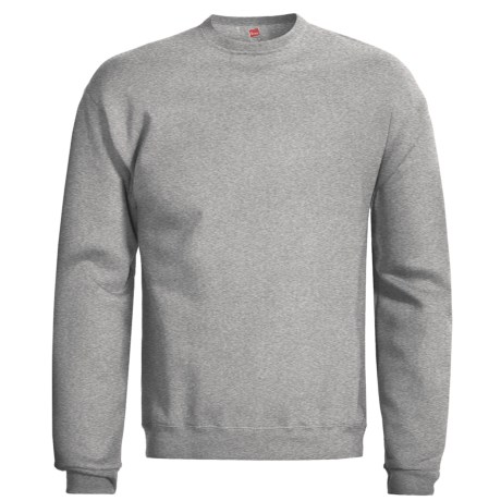 Hanes Premium EcoSmart Sweatshirt - Cotton Fleece (For Men and Women) in Grey Heather
