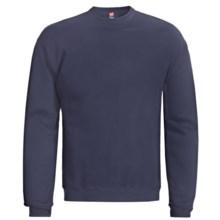 Hanes Premium EcoSmart Sweatshirt - Cotton Fleece (For Men and Women) in Navy - 2nds